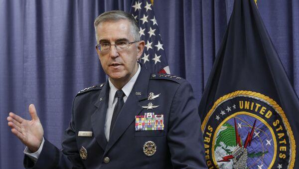 Hlava Stragického velení amerických ozbrojených sil USA (USSTRATCOM) generál John Hyten - Sputnik Česká republika