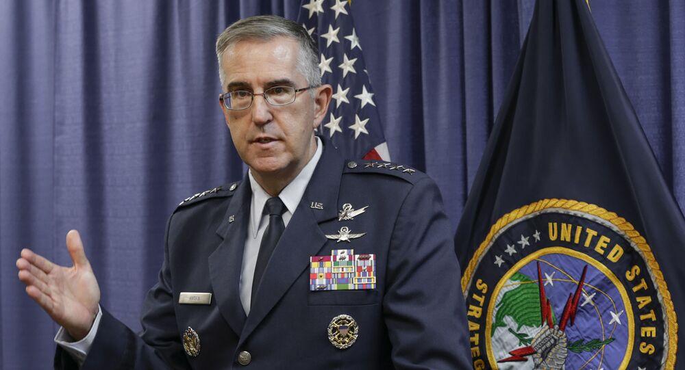 Hlava Stragického velení amerických ozbrojených sil USA (USSTRATCOM) generál John Hyten
