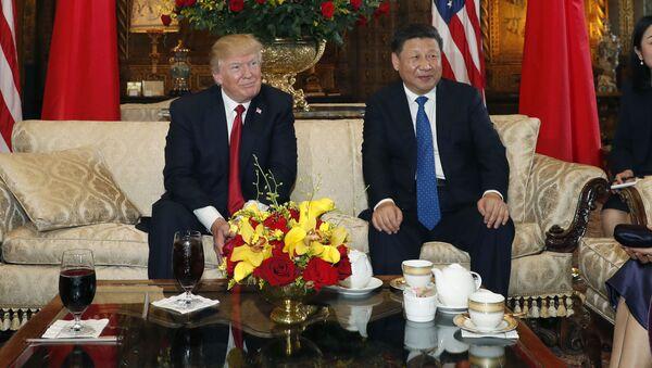 Schůzka předsedy ČLR Si Ťin-pchinga a amerického prezidenta Donalda Trumpa - Sputnik Česká republika