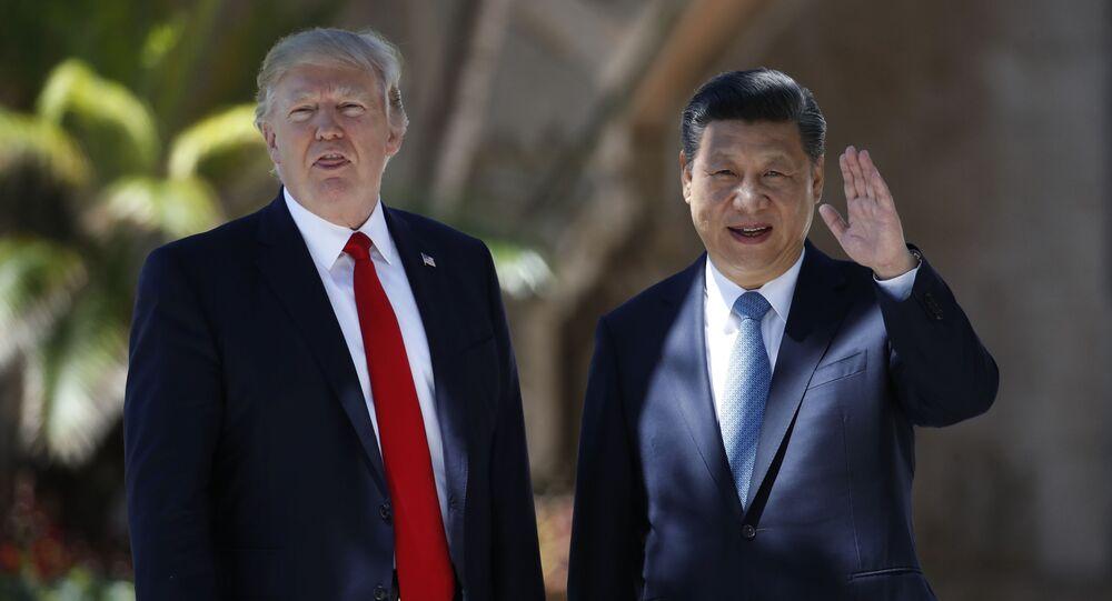 Donald Trump a Si Ťin-pching