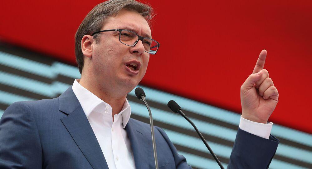 Premiér a zvolený prezident Srbska Aleksandr Vučić
