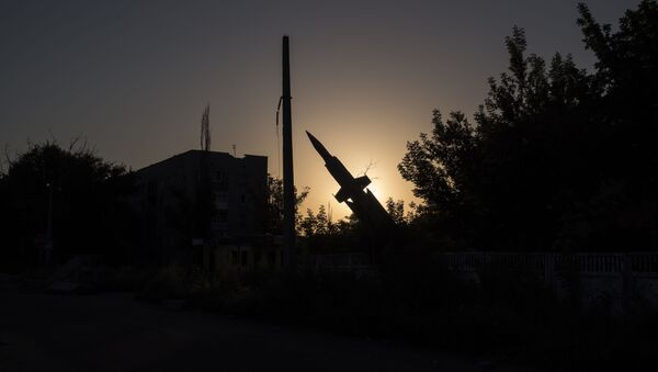 Pomník raketě v Doněcké oblasti - Sputnik Česká republika