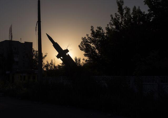 Pomník raketě v Doněcké oblasti