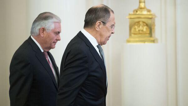 Kravál na MZV. Za co Lavrov pokáral americké novináře - Sputnik Česká republika