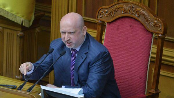Tajemník Rady národní bezpečnosti a obrany Ukrajiny Oleksandr Turčynov - Sputnik Česká republika