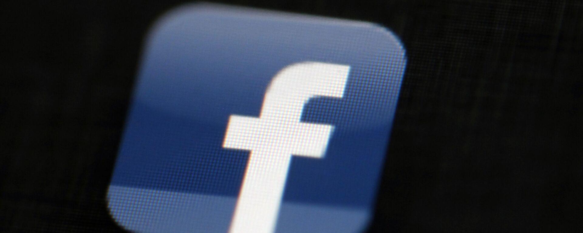 Logo sociální sítě Facebook - Sputnik Česká republika, 1920, 29.07.2021