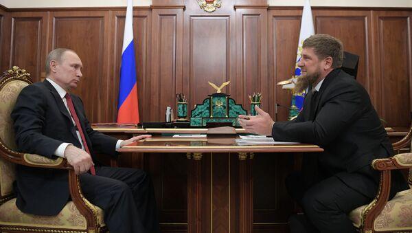 Vladimir Putin a Ramzan Kadyrov - Sputnik Česká republika