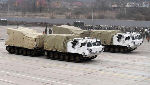 """Pancíř-SA na základě dvousložkových pásových terénních vozidel DT-30 """"Vítěz - Sputnik Česká republika"""