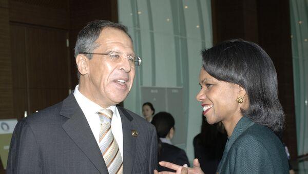 Sergej Lavrov a Condoleeza Riceová - Sputnik Česká republika
