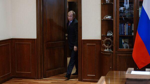 Ruský prezident Vladimir Putin v Jaroslavské oblasti - Sputnik Česká republika