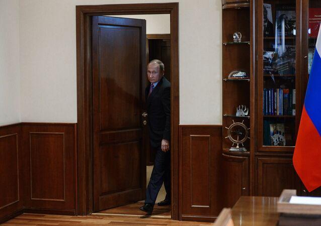 Ruský prezident Vladimir Putin v Jaroslavské oblasti