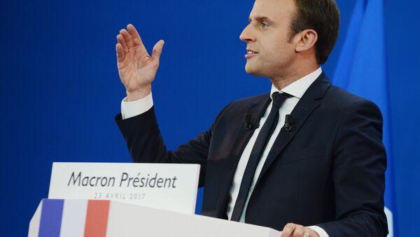 Prezident Francie Emmanuel Macron - Sputnik Česká republika