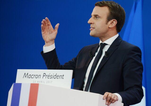 Kandidát na prezidenta Francie Emmanuel Macron