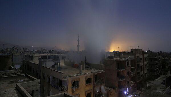 Kouř nade Damaškem. Ilustrační foto - Sputnik Česká republika