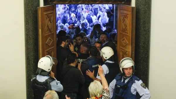 Útok na parlament v Makedonii - Sputnik Česká republika