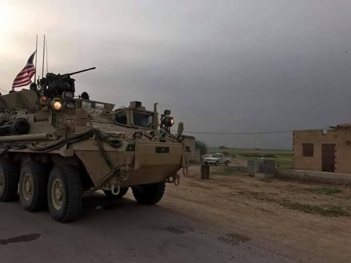 Americký tank na syrsko-turecké hranici