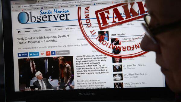 Stránka MZV RF, na které jsou uveřejňovány hoaxy - Sputnik Česká republika