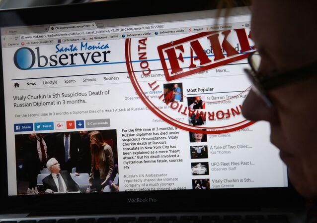 Stránka MZV RF, na které jsou uveřejňovány hoaxy