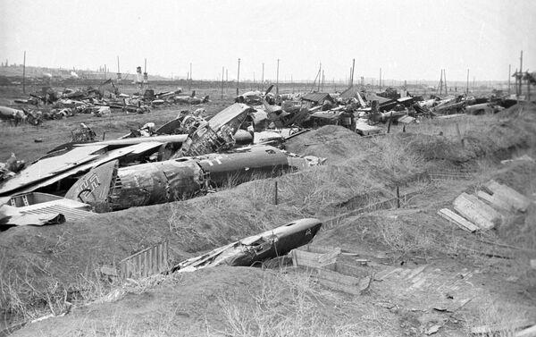 Sestřelená fašistická letadla. Bitva u Stalingradu - Sputnik Česká republika