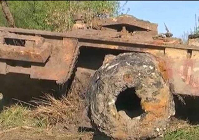 Americký tank, který vyzvedli ze dna řeky Don