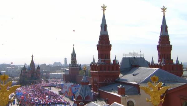 Prvomájový průvod na Rudém náměstí - Sputnik Česká republika