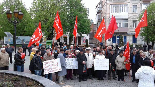Účastníky prvomájového mítinku - Sputnik Česká republika