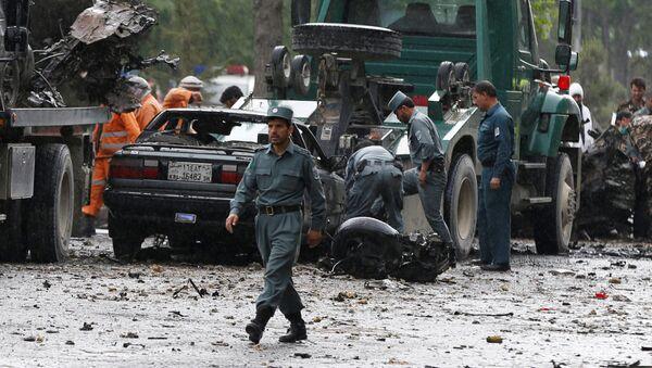 Policie na místě vývuchu v Kábulu - Sputnik Česká republika