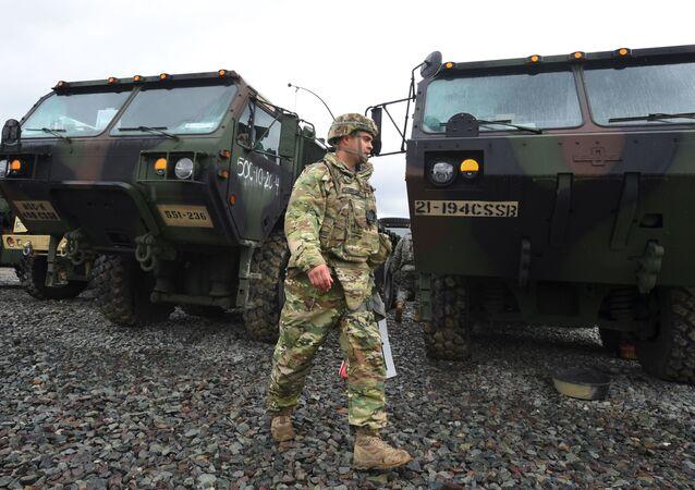 Americký voják během cvičení v Jižní Koreji