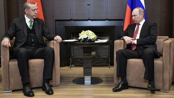 Putin a Erdogan - Sputnik Česká republika