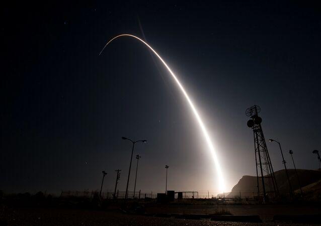 Zkouška mezikontinentální rakety Minuteman III. Ilusrační foto.