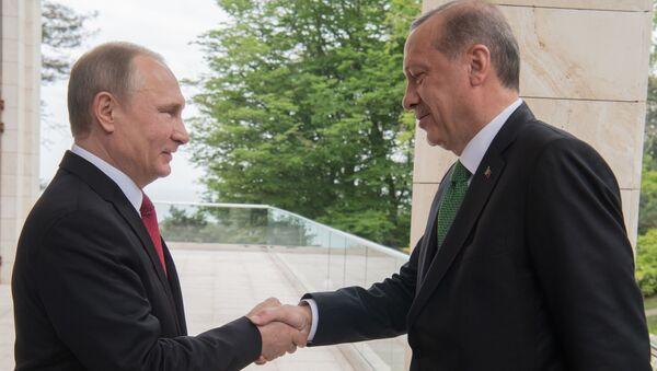 Setkání Vladimira Putina s Erdoganem - Sputnik Česká republika
