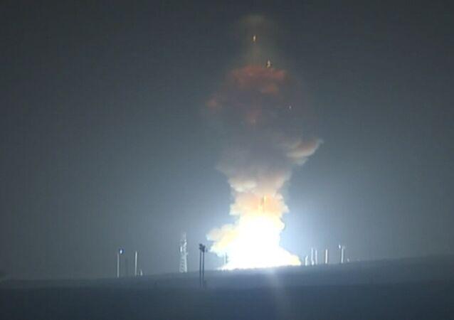 Testový start mezikontinentální balistické rakety Minuteman III