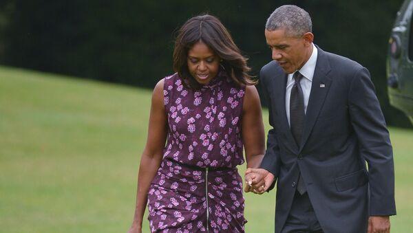 Barack Obama a jeho žena Michelle - Sputnik Česká republika