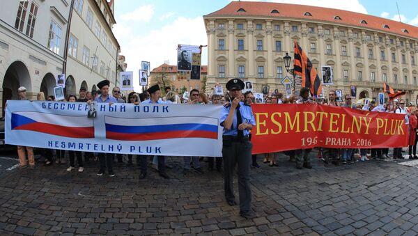 Akce Nesmrtelný pluk v Praze - Sputnik Česká republika