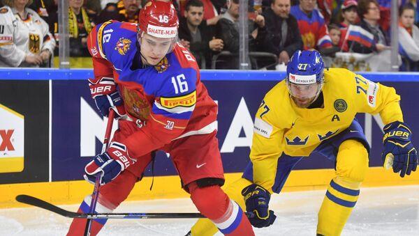 Hokejisté Ruska a Švédska - Sputnik Česká republika