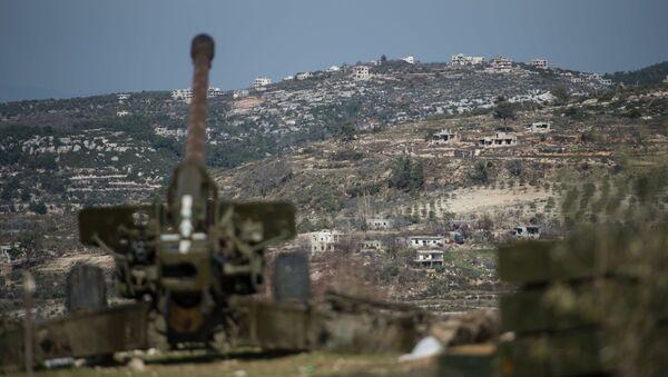 Syrská armáda v Idlibu - Sputnik Česká republika