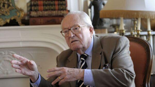 Zakladatel Národní fronty a otec kandidátky na prezidenta Francie Jean-Marie Le Pen - Sputnik Česká republika