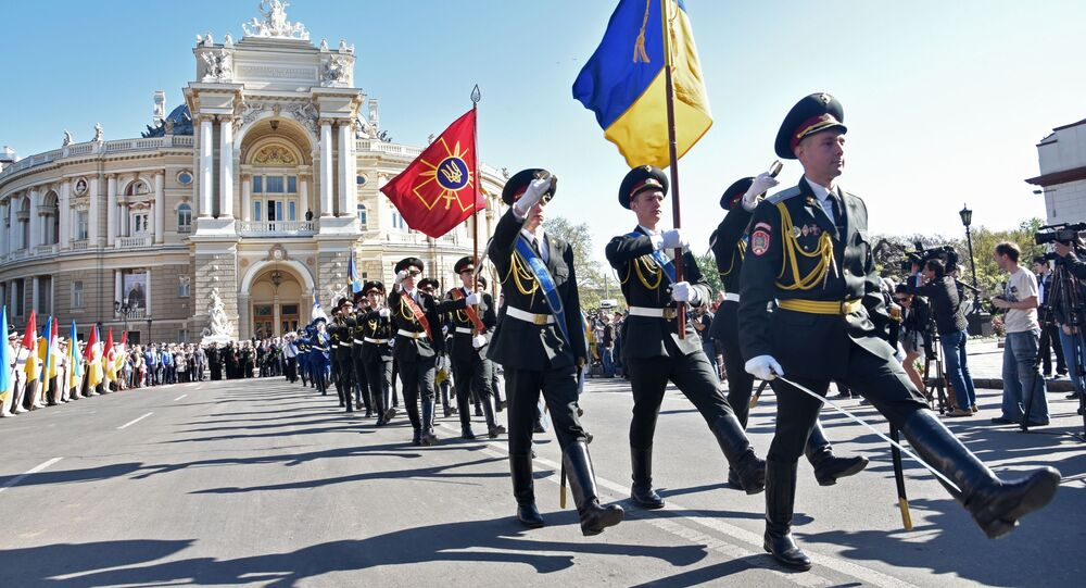 Oslavy 9. května na Ukrajině. Archivní foto