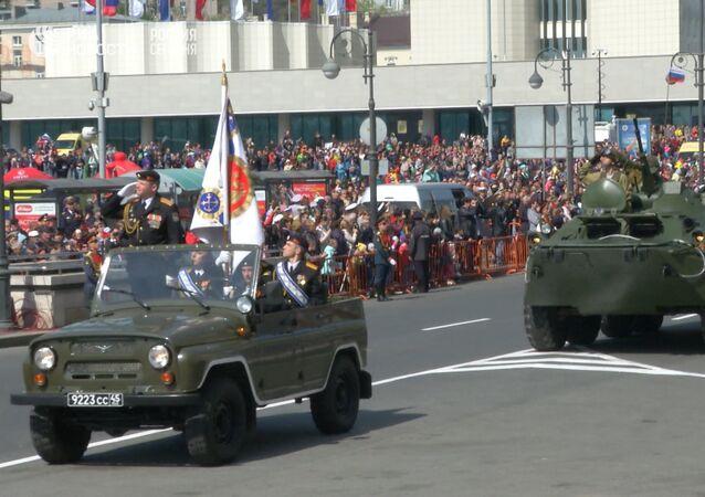 Přehlídka vítězství ve Vladivostoku