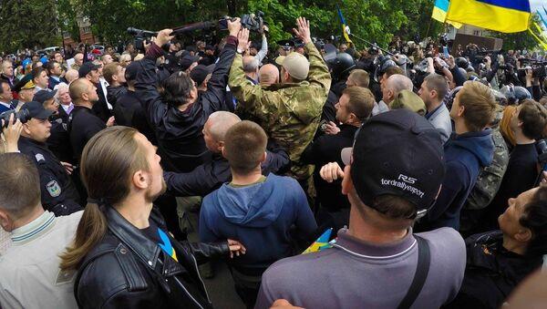 Potyčky v Dnipru 9. května - Sputnik Česká republika