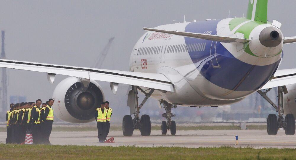 Letadlo na čínském letišti