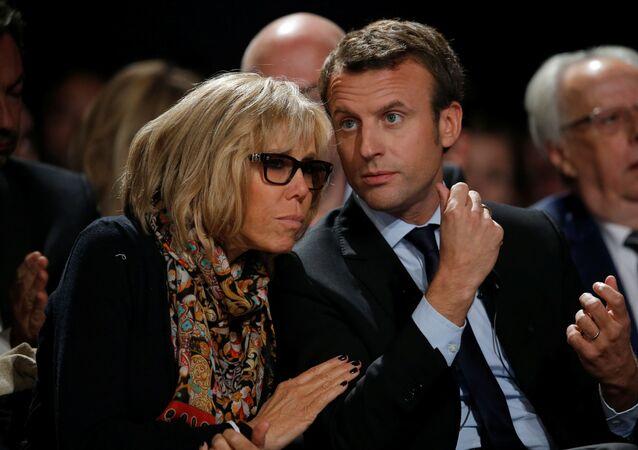 Emmanuel Macron s manželkou Brigitte Trogneux