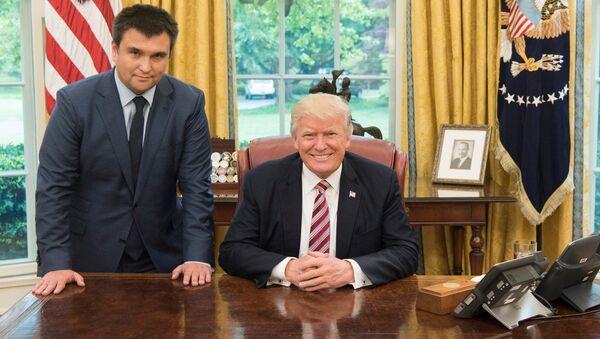 Pavel Klimkin a Donald Trump - Sputnik Česká republika