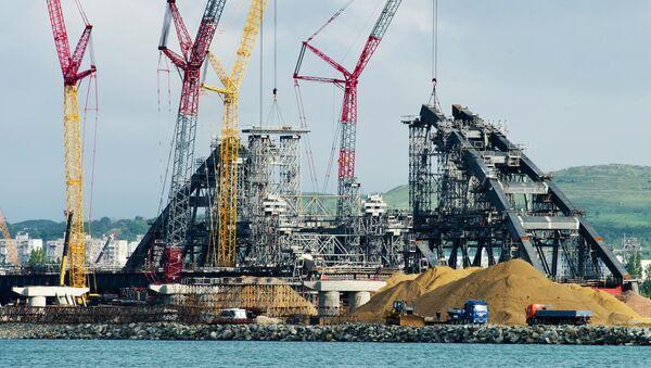 Строительство моста через Керченский пролив в Крыму - Sputnik Česká republika