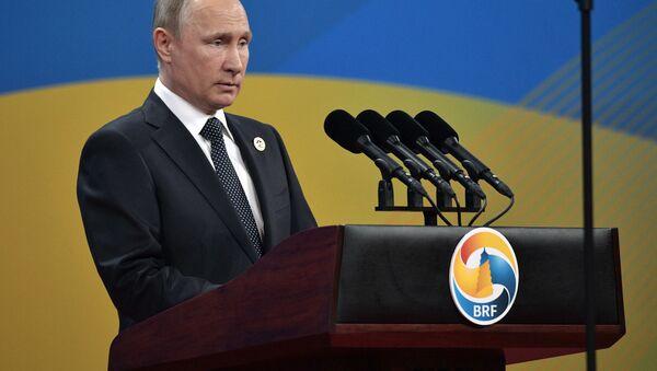 Prezident RF Vladimir Putin na zahájení fóra Jedno pásmo, jedna cesta - Sputnik Česká republika