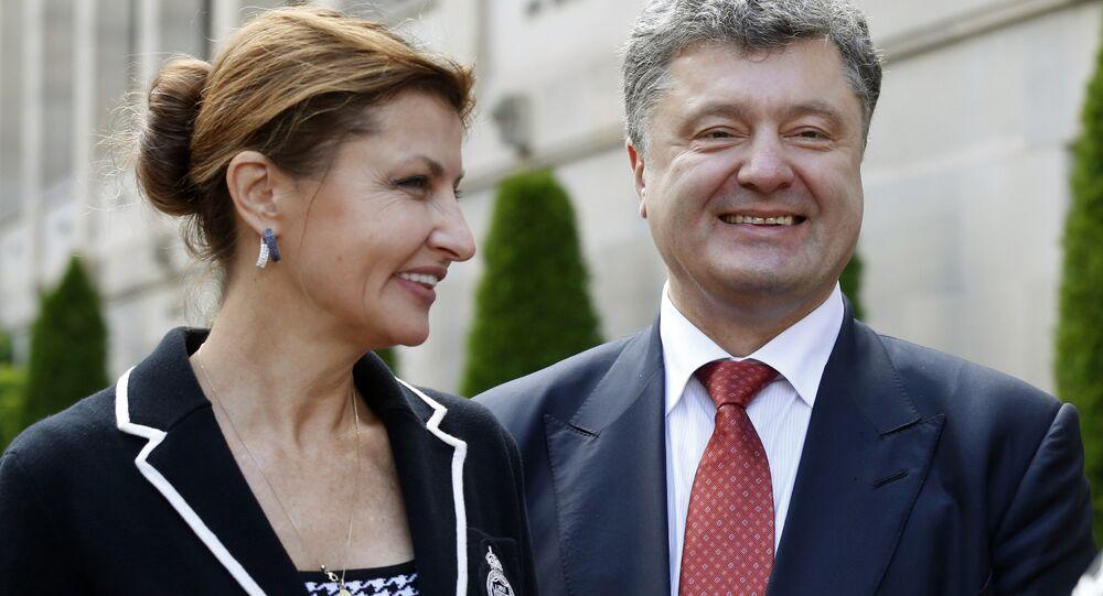 Ukrajinský prezident Petro Porošenko a jeho maželka Marina