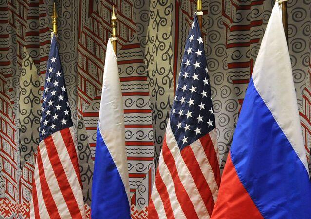 Vlajky Ruska a USA. Ilustrační foto