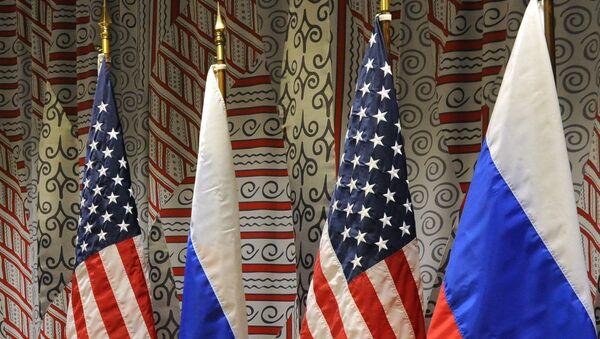 Vlajky Ruska a USA. Ilustrační foto - Sputnik Česká republika