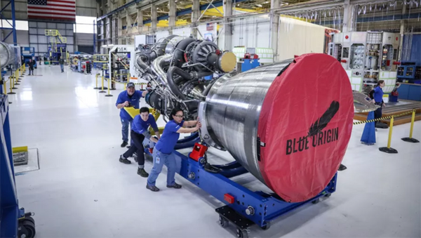 Motor BE-4 Blue Origin - Sputnik Česká republika