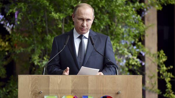 Vladimir Putin v Itálii - Sputnik Česká republika